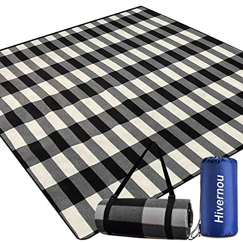 Hivernou Outdoor Picnic Blanket, Picnic Blanket Waterproof Foldable with 3 Layers Material,Extra Large Picnic Mat Beach...
