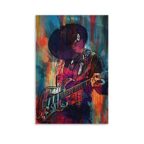 laoyinbi Stevie Ray Vaughan Poster décoratif sur toile pour salon, chambre à coucher 30 x 45 cm