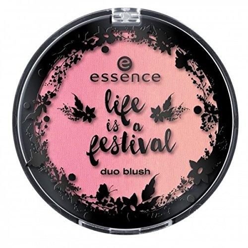 Essence life is a festival duo blush Nr. 01 Hippie Hippie Hooray Inhalt: 7,82g Zweifarbiges Rouge für einen frischen, natürlichen Teint.