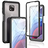 JXVM Phone Case for Moto G Power 2021 with Buil-in Clear Screen Protector, Full-Body Protection Shockproof Heavy Duty Military Protective Cell Phone Cover Compatible with Motorola G Power 2021