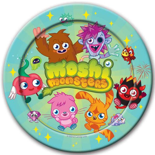 Moshi Monsters Birthday Party Plates 1 pack de 8