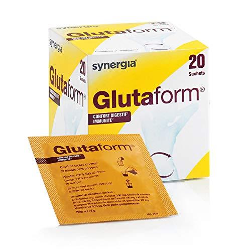 Glutaform Glutamine, curcumine (curcuma), canelle, ananas et vitamine D Origine France Résolvez votre hyperméabilité intestinale !