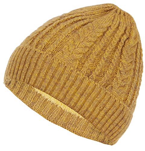 Faera warm gevoerde muts winterse muts gebreid met beanie fleece voering heren dames muts one size fits all
