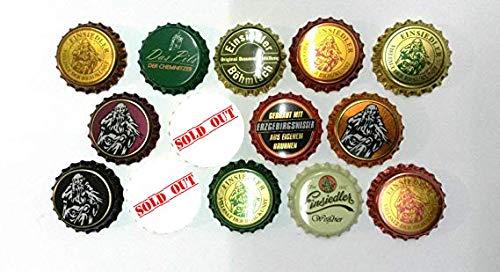 Einsiedler Brauerei Viele Neue Kronkorken - Einsiedler Kronkorken-Set vieler Einsiedler Bierflaschen - Caps Sachsen