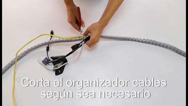 MOSOTECH Organizador Cables, Cubre Cables de 2m, Flexible Funda Organizador Cables, Organizador de Cables Mesa, Recoge Cables para Office y PC ...
