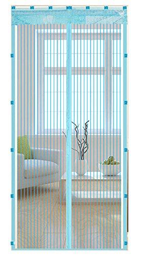 Liveinu Cortina Mosquitera Magnética Para Puerta Ventana Con Clip Adhesivo,Mosquitera Para Puerta Protección Contra Insectos Magnético Mosquitera Puerta Azul 120x210cm