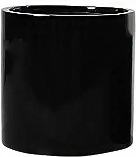 Pottery Pots Elegant Black Cylinder Flower Pot 8