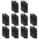 Housolution 50 Pezzi Lame Utensile Multifunzione, Accessori Lame per Seghe Utensili Oscillanti, con Attacco Rapido per Einhell, Bosch, Dewalt, Fein Multimaster, Dremel, Nero