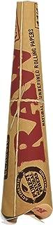 36 RAW Classic Rolling Paper Cones Natural Hemp - 6 Packs of 6 Cones