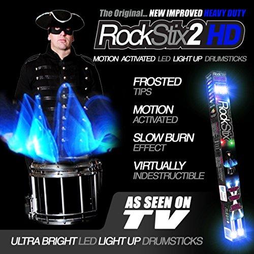 Product Image 4: ROCKSTIX 2 HD BLUE, BRIGHT LED LIGHT UP DRUMSTICKS, with fade effect, Set your gig on fire! (BLUE ROCKSTIX)