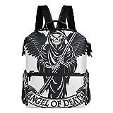 MIGAGA Angel Death Wings Sense Hände,Laptop Rucksack Lederband Schultasche Outdoor Travel Casual...