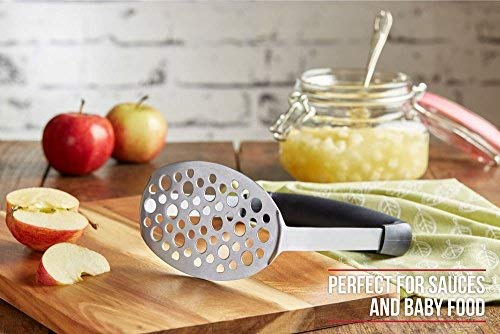 ASEVIL Quality Stainless Steel Potato Masher with Broad and Ergonomic Horizontal Handle Vegetables,Fruits,Potatoes