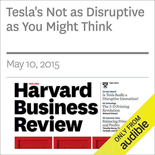 Tesla's Not as Disruptive as You Might Think copertina