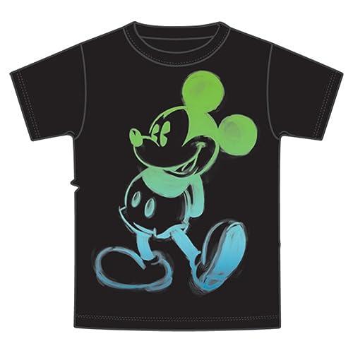 f568de017 Jerry Leigh Disney Mickey Mouse Boys Glow T Shirt,Black,6 / 7