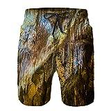 saletopk Bañador De para Hombre Pantalones Playa Shorts, calas del drac Mallorca Secado Rápido Ligero Baño Cortos L