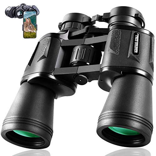 20 x 50 Binoculars for Adults Lightweight Large Eyepiece HD Binoculars for Bird Watching Hunting Hiking Sightseeing Travel Opera Concert Games with BAK4 Prism FMC Lens