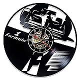 LKJHGU Reloj de Pared con Disco de Vinilo Reloj de Carreras F1 de diseño Moderno con Reloj de Pared de Tema 3D Reloj de Pared de decoración de Sala de Estar y Dormitorio