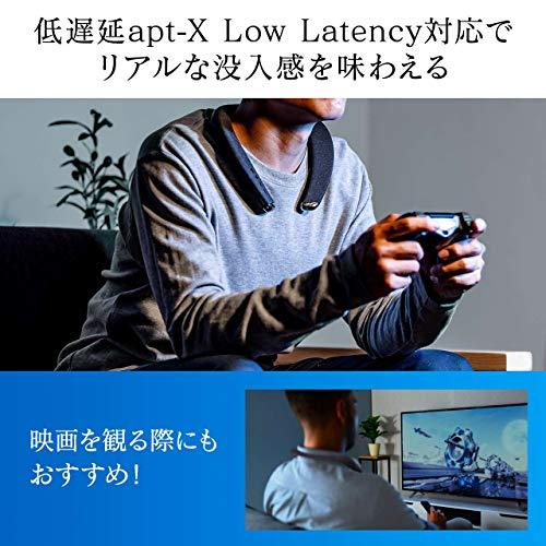 サンワダイレクトネックスピーカーBluetooth5.0低遅延apt-XLL対応防水IPX5連続11時間再生軽量175g通話対応400-SP090