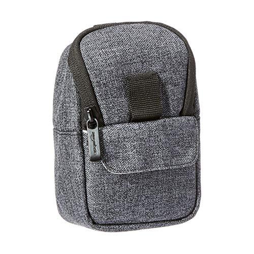 Amazon Basics - Custodia per fotocamera, poliestere di qualità, resistente all'acqua, grigio cenere