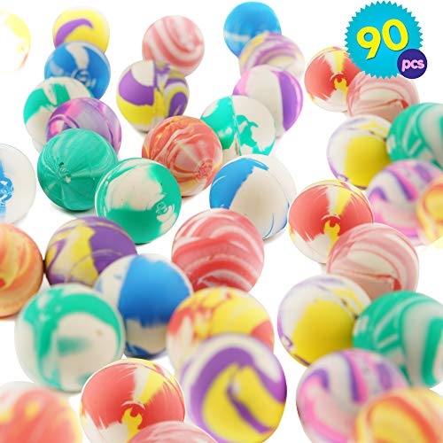 THE TWIDDLERS 90 Bouncy Ball | Bambini Palline Rimbalzanti in Gomma | Palline Colorate con Design Diversi | Borse Regolo, Pallina Rimbalzine | Giocattoli da Interno Ideali per Bambini