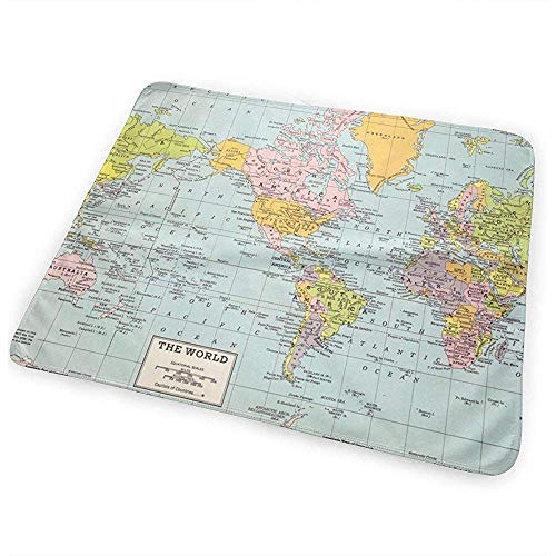 Matelas À Langer Bebe,World Map - Tapis À Langer Imperméable Et Portable Pour Matelas À Langer Vintage 50Cm*70Cm