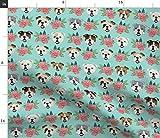 Englische Bulldogge, Bulldoggen, Blumenmotiv, Hunde, Hunde