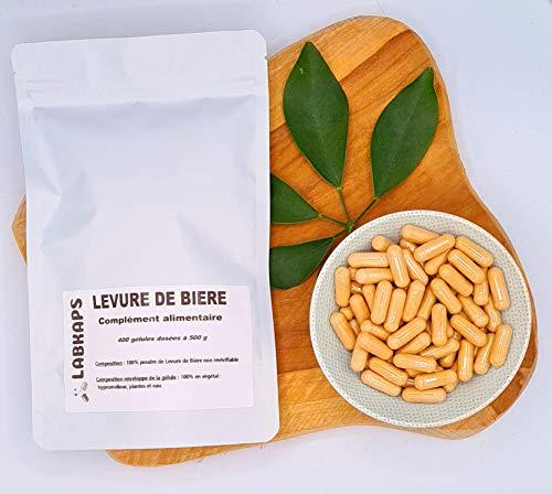 Levadura de cerveza 400 cápsulas dosificadas a 500 mg sobre 100% vegetal