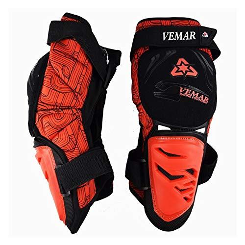 LXF JIAJU Protector De Rodilla Impermeable Conjunto De Engranajes De Motocicleta Moto Proteger Pads Ajustables Bike Kneepad Brace Armors Off-Road MTB DH Guardias (Color : Orange)