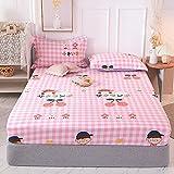 CDDKJDS 1 colchón de cama de impresión 100% algodón con cuatro esquinas y banda elástica (color: Wanzitonghua, tamaño: 80 x 200 x 25 cm)