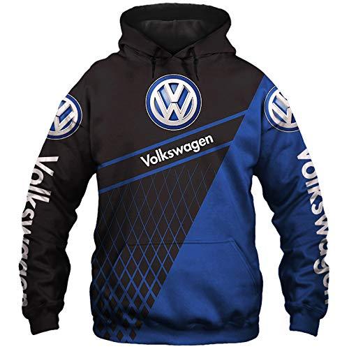 xiaosu 3D Voll Drucken Hoodies,Jacke,T-Shirt,Kurze-Hose Volkswagen Herren Leicht Sweatshirt Unisex Beiläufig Fußball Sportkleidung Y/A/M
