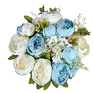 ZGPEPEXIA Vintage Artificial Peonies Silk Peony Flowers Bouquet for Wedding Bridal Home Décor – Beautiful Floral Centerpiece Arrangement Decoration