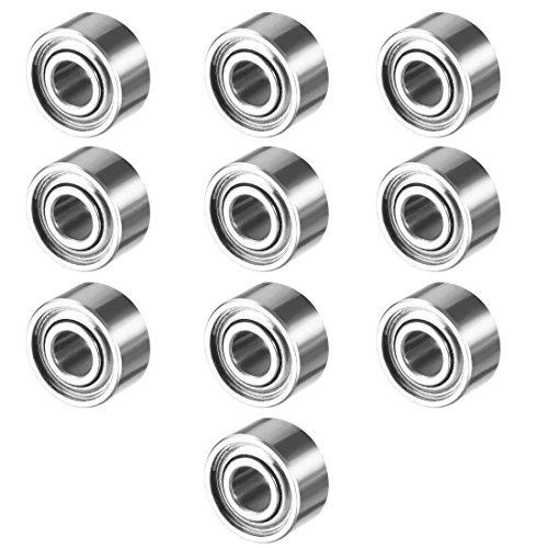 uxcell 10pcs MR52ZZ 2mmx5mmx2.5mm Double Shielded Miniature Deep Groove Ball Bearing