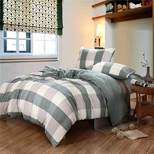 Teyun. Cotton printless Einfache Textile Dreiteilige Bettdecke (Color : Green, Size : 120CM)