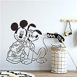 Mickey & Pluto Home Decor Wandtattoos Transfers Art Decorat