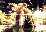 XIANGJING Rompecabezas de 1000 Piezas Póster Sword Art Domain Anime Rompecabezas de para Adultos, Regalos para niños y niñas, decoración del hogar