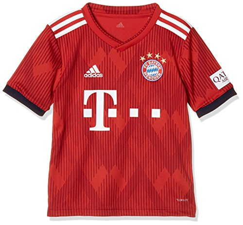 adidas FCB H Y T-Shirt Sportiva, Bambino, FCB True Red/Strong Red/Bianco, 7-8A