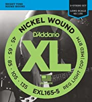 【2セット】D'Addario ダダリオ EXL165-5 RL.Top/M.Bottom Long Scale 5-strings 5弦ベース弦