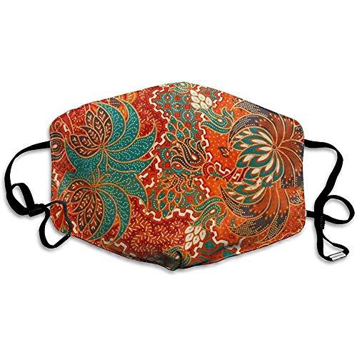 FANCYDAY Mond Maskers, Multifunctionele Maskers-Kleurrijke Indonesië De Mooie Van Maleisische En Indonesische Batik Patroon Traditionele