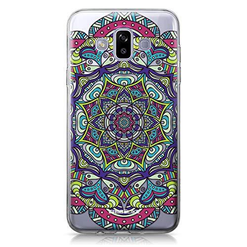 CASEiLIKE® Funda Samsung J7 Duo 2018, Carcasa Samsung Galaxy J7 Duo 2018, Arte de la Mandala 2094, TPU Gel Silicone Protectora Cover