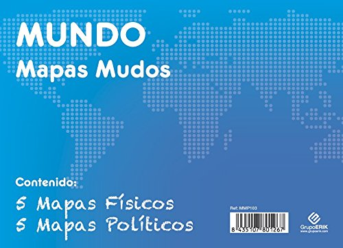 GRUPO ERIK EDITORES, S.L. - Pack mapas mudos es Mundo 5+5 Grupo Erik blanco y celeste
