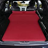 HKVML Colchón de Aire automáticoSUV Cama para automóvil Colchón de Aire para Acampar Auto Sleeping Cusion Cama Inflable Colchón de Viaje Inflable Elevado, Doble, clarete, Rojo, 180 * 130 * 5 cm