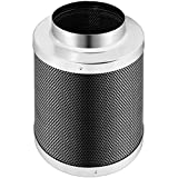 GYZJ 6 Inch Air Carbon Filter with Premium Australian Virgin Charcoal, for Inline Duct Fan, Odor Control, Hydroponics, Grow Rooms
