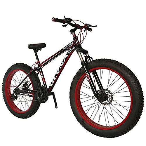 Mountain Bike da 20/26 Pollici con Pneumatici Grassi,Bicicletta da Strada da Esterno per Uomo e Donna per Adulti, Bici da Sabbia,21-27 velocità,Freno a Disco,Forcella Ammortizzata