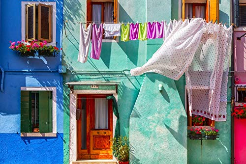 Posterazzi PDDEU16BJY0272LARGE Italy, Burano. Colorful House Exterior Photo Print, 24 x 36, Multi