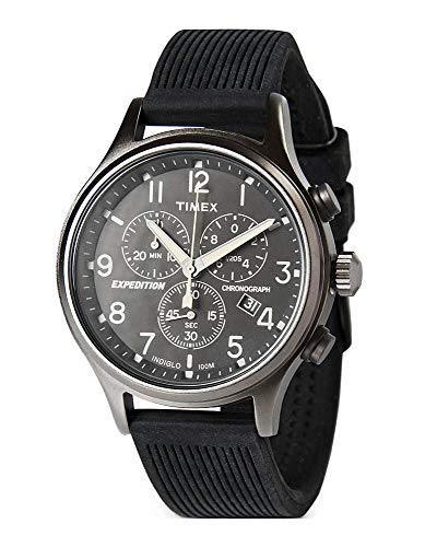 Timex Herren Chronograph Quarz Uhr mit Silikon Armband TW2R56100