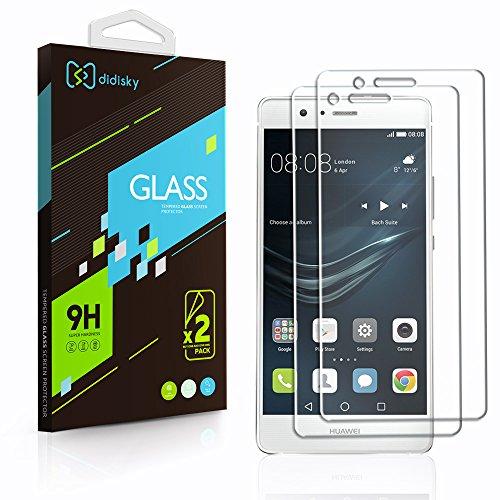 Didisky 2 Pack Vetro Temperato Huawei P9 Lite, Pellicola Protettiva in Vetro Temperato per Huawei P9 Lite Smartphone [Tocco Morbido ] Facile da Pulire, Facile da installare