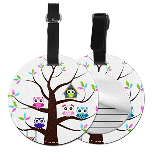 Luggage Tags Owl Tree Suitcase Luggage Tags Business Card Holder Travel Id Bag Tag