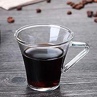 180mlの2つのエスプレッソマグカップエスプレッソカップセットソーサーガラスカップセットのセットエスプレッソカプチーノラテのコーヒーマグカップ (Color : 2Pcs Coffee Mugs)