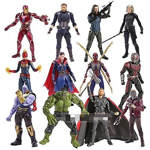 aolongwl Figura Juguete Star Lord Iron Man Hombre Spiderman Doctor Strange Thanos Negro Viuda Capitán Hulk Figura de acción Juguete Figura Juguete (Color : Doctor Strange)