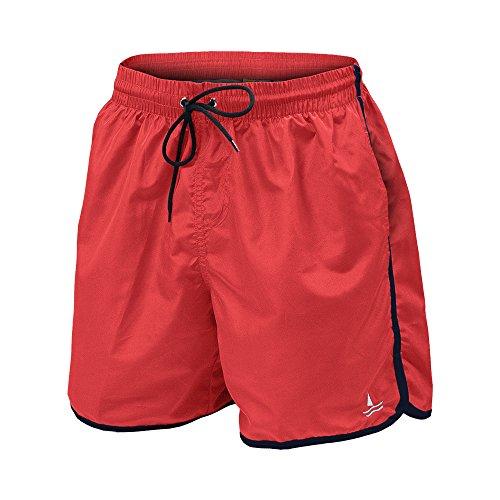 Navigare Costume Mare Uomo Slip/Boxer Taglie da M a XXL Assortito (Boxer Red Race - 50 / L)